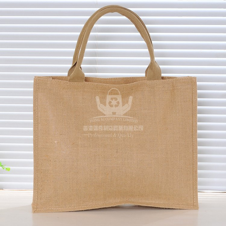 <b>JUH141 黃麻手提購物袋 時尚單肩包</b>