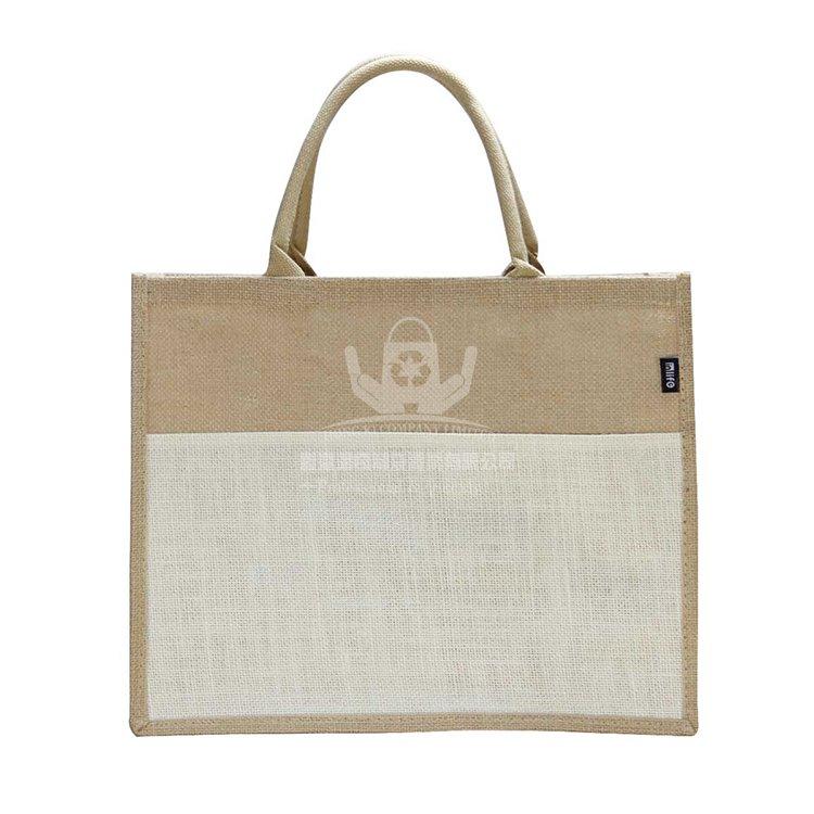 <b>JUH134 天然黃麻購物袋 環保宣傳袋</b>