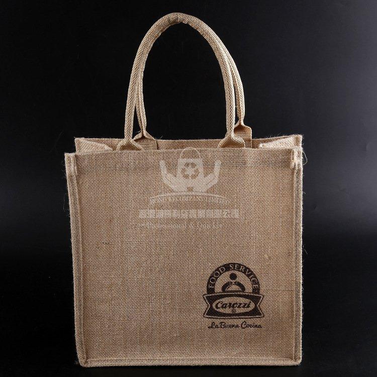 JUH142 麻布廣告袋 黃麻手提