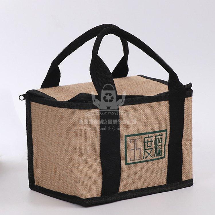 <b>JUI363 黃麻保溫袋 麻布購物袋 手提環保袋</b>