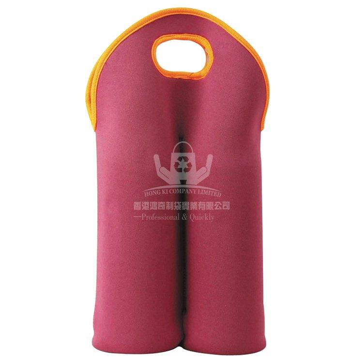<b>NEW123 雙只裝潛水料酒袋 酒瓶套 禮品袋</b>
