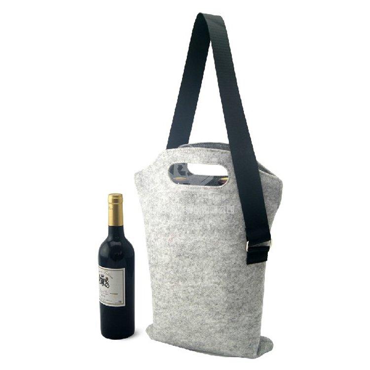<b>VEW141 毛氈布酒袋 單肩手提袋 促銷禮品袋</b>