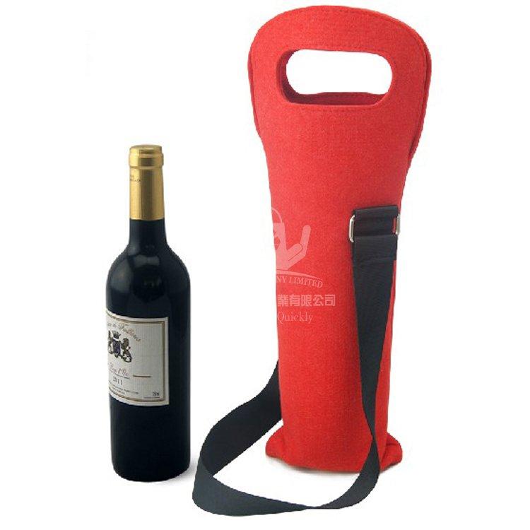 VEW140 單只裝毛氈布紅酒瓶