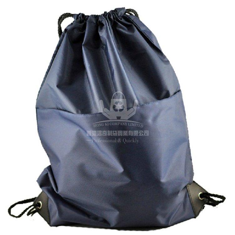 <b>POD198 運動抽繩雙肩背包 滌綸束口袋 收納背袋</b>