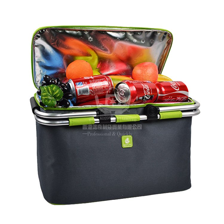 <b>POI376 多功能折疊野餐籃 水果食品保鮮保溫袋 戶</b>