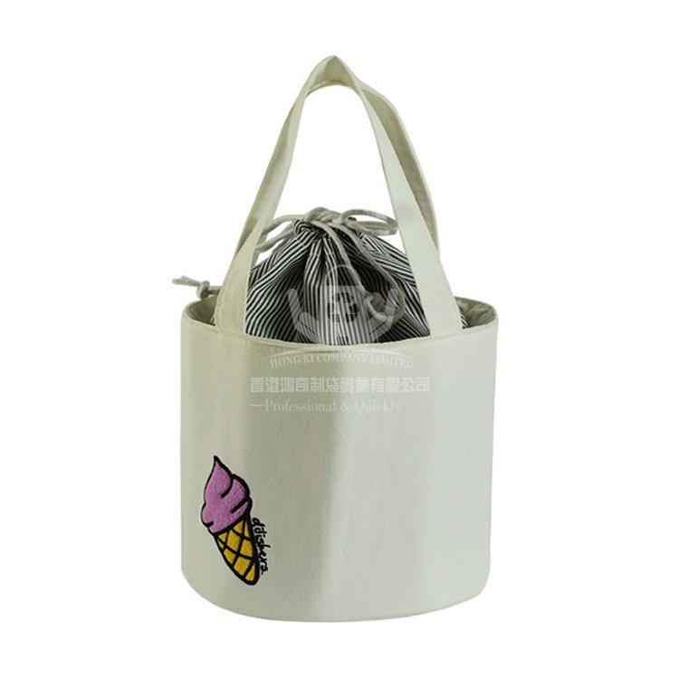 <b>COI379 日系圓筒棉布保溫袋 便當袋 冰袋</b>